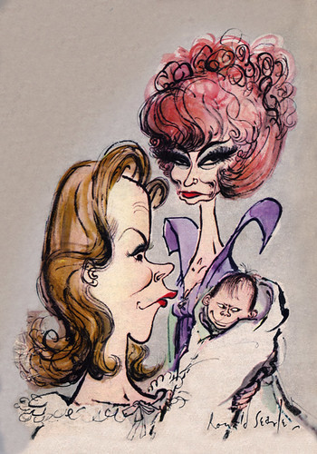 Bewitched Illustration by Ronald Searle