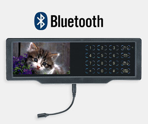 Bluetooth monitor hands free with 4.3 inch LCD screen by luView_Elsa