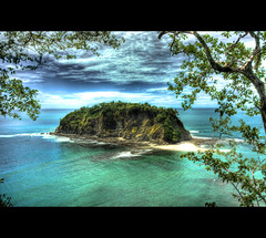 Chora from Above (mofmann) Tags: ocean blue beach clouds island mar costarica view pacific playa vista viewpoint isla hdr chora samara centralamerica guanacaste centroamerica mof samarabeach playasamara puntaindio nicoyapeninsula americacentral islachora sonyalpha700 mofmann