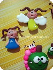 Anjinhas (Alane • maria julia biscuit) Tags: cores handmade artesanato artesanal biscuit fofo cor porcelana porcelanafria feitoamao