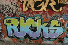 ricks (action word) Tags: river graffiti los angeles tiger cubes ricks 323 tagr g2h skateallcities