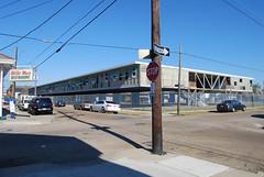 Phillis Wheatley (urban fabric) (regional.modernism) Tags: school 1955 modern steel neworleans modernism lafitte regional welded cantilever truss treme francinestock charlescolbert sfmpopthreatened