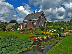 Typical Dutch House (Pablo Vieira) Tags: holland nature beautiful dutch amsterdam bike bicycle colorful nederland thenetherlands bicicleta bici holanda hdr waterland landsmeer paisesbajos ilpendam twiske holandes kanaaldijk watergang paisesbaixos twiskepark