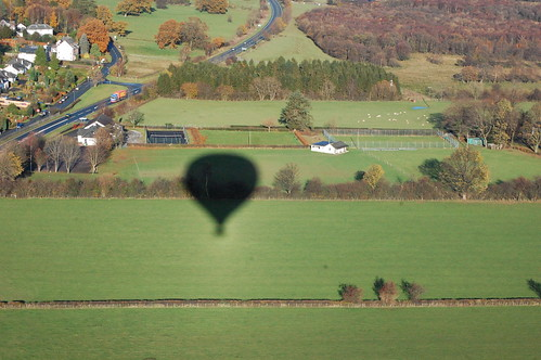 Our balloon shadow over fields (365/152)