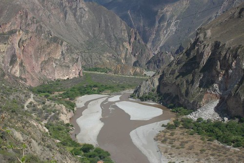 Cool river valley cycling west of Cusco