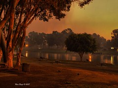 Park and the Fire (Mine Beyaz) Tags: park trees tree sunrise fire placentia fullerton brea abigfave theperfectphotographer minebeyaz