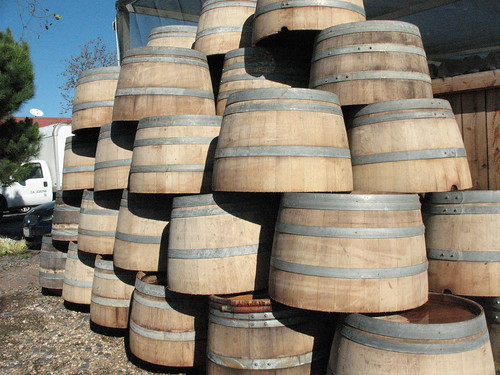 half oak wine barrels from central coast wineries