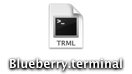 Blueberry terminal settings