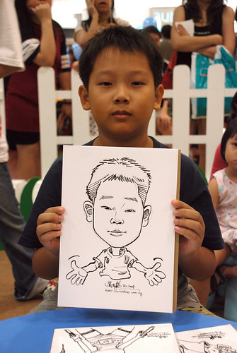 caricature live sketching for West Coast Plaza day 2 - 16