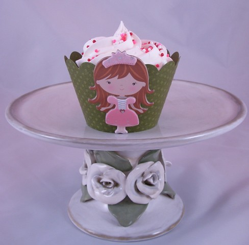 Pinky princess cupcake wrap