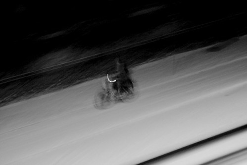 Black and White Snow bike