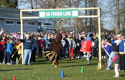 Turkey Chase Mascot Finish