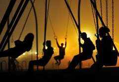We Swing At Night (TJ Scott) Tags: beach silhouette fog night losangeles chains nikon moody shadows santamonica swings group teens spooky dreams venicebeach musclebeach sodiumvapor d300 anawesomeshot tjscott novavitanewlife