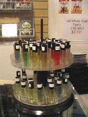 Fragrance oils for sale at Spoons. Photo by Wendi.