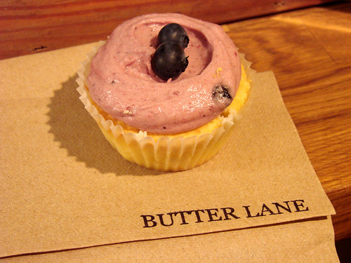 Butter Lane Blueberry Cupcake