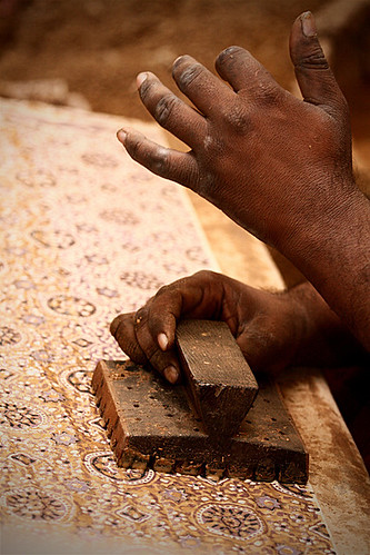 Ajrak-The-Making by -DarkSide-.