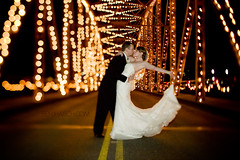 KEVIN+BECKY-530 (Benj Haisch) Tags: road christmas bridge wedding lights groom bride washington kiss bokeh canon5d dip sumner tiltshift canontse45mmf28 benjhaisch