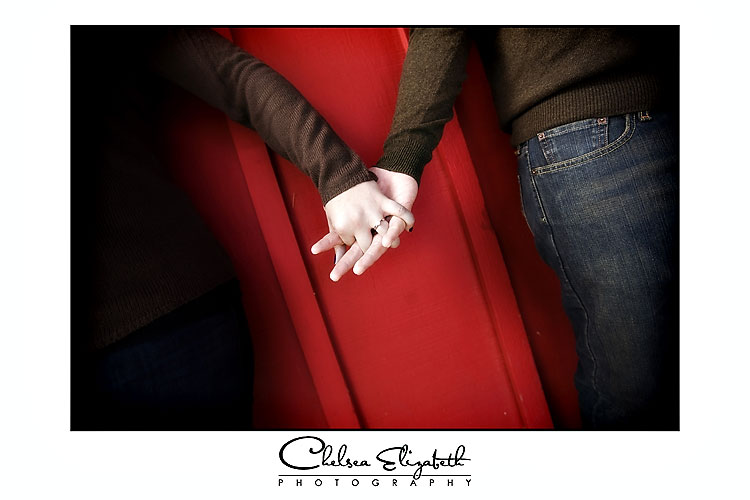 Camarillo Ranch Engagement Photo holding hands