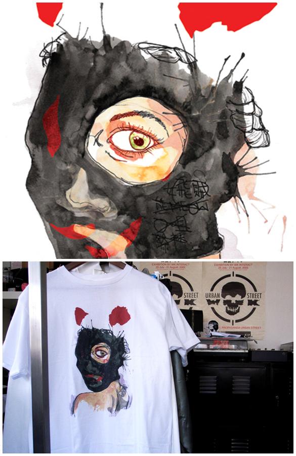 """Random portrait"" t-shirt."