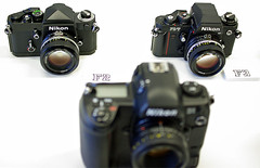 Nikon F2, F3, D1