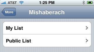Mishaberach in iPhone Siddur