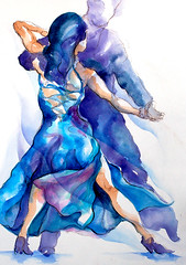 blue tango (segismundoart) Tags: blue motion art lady watercolor dance movement dancers dancing fineart performance dancer grace tango ballroom gerardo segismundo femaledancer segismundoart gerrysegismundo gerardosegismundo segiart dancervertical gerardosigismund gerrysigismundgerrysegismundo