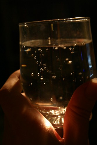 Dramatic glass of water