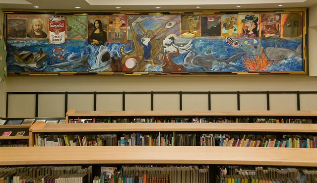 ARTLIFE a painting by award-winning artist Bert L Long Jr by Houston Public Library