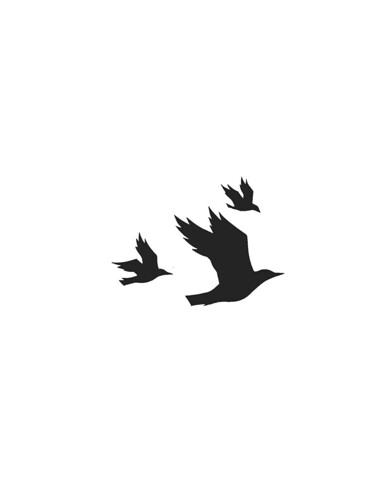 Flying Birds Template from Nikki McClure | July/August 2009 | Paper ...