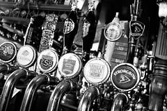 Beer taps (aebphoto) Tags: blackandwhite bw beer canon yum angle lexington ky drinks lexingtonky crispin tap logos handles strongbow draft thepub beertaps vanillaporter fullersesb rebelxsi fullerslondonpridepaleale
