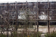 neks x neks x neks x neks (Into Space!) Tags: graffiti graf graff longisland li lirr newyork neks throwie bombing longislandrailroad ny queens urban art street vandal illegal traintracks intospace canon