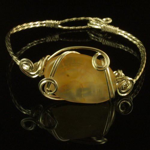Carnelian & Sterling Silver Bracelet by JewellerybyShalini