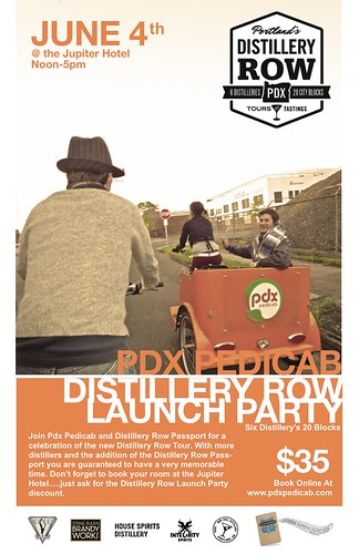 June 4: Distillery Row Pedicab Tours Kickoff Party @ Jupiter Hotel