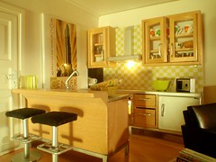 Bachelor apartment for Polly Line's brother - kitchen