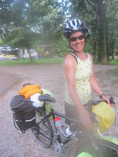 Julie the bike tourist