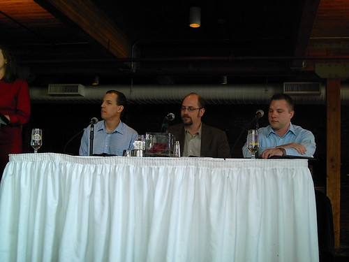 panel at web association lunch