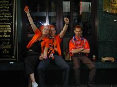 Holland! (glennaa) Tags: orange holland netherlands amsterdam geotagged football europe 2000 soccer fans leidseplein rtw irishpub euro2000 semifinals danmurphys geo:lon=4882917 geo:lat=52364557