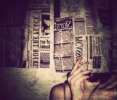 g o s s i p (bye bye ) Tags: selfportrait wall writing alone shadows darkness letters textures hide mysterious lonely sickness afraid emotional scared hiding simple emotions messages secrets emotive feelings 2007 coldness fakeface goldenphotographer diamondclassphotographer flickrdiamond newspapercurtains