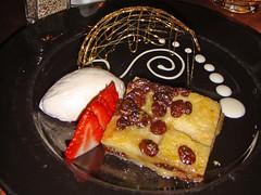 Bread & Butter pudding for dessert at Bar Diesel, Leith, Edinburgh