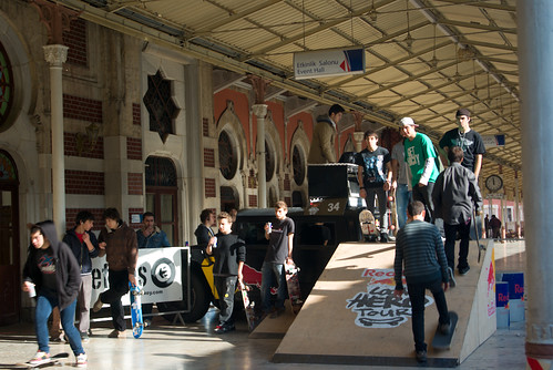 Sirkeci Railway Station and Red Bulls Local Heros event by Pentax K10D