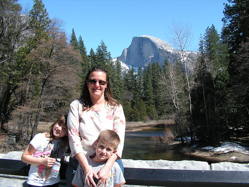 Kelly and the kids - Halfdome