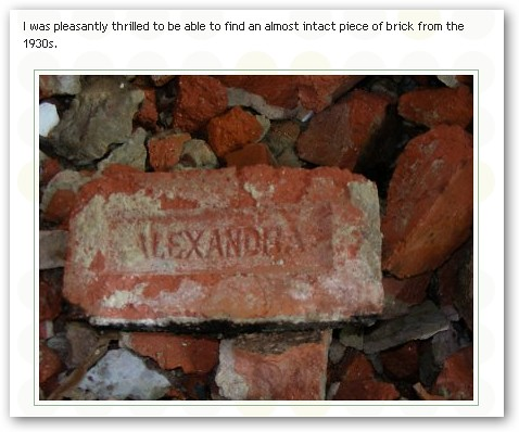 Bricks from Alexandra Brickworks