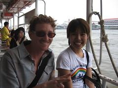 Ferry on Chao Phraya River (travelinlitenow) Tags: thailand bangkok chaophrayariver
