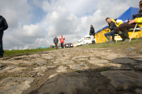 The bone-jarring cobbles of the Paris-Roubaix. Photo: tetedelacourse