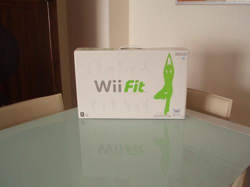 Wii Fit en la mesa del comedor