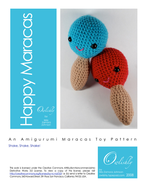 Happy Maracas pattern page 1