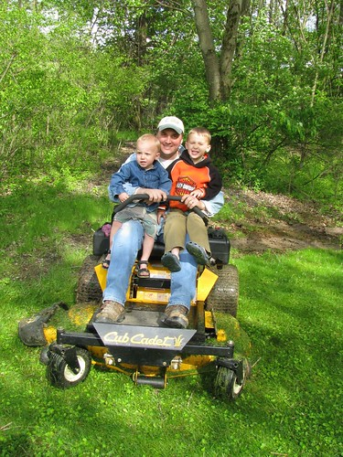 Mowing with Daddy