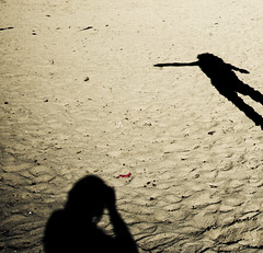 shadows taking a photo (Fotis ...) Tags: light beach sand shadows games myshadow
