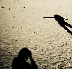 shadows taking a photo (Fotis ...) Tags: light beach sand shadows games myshadow