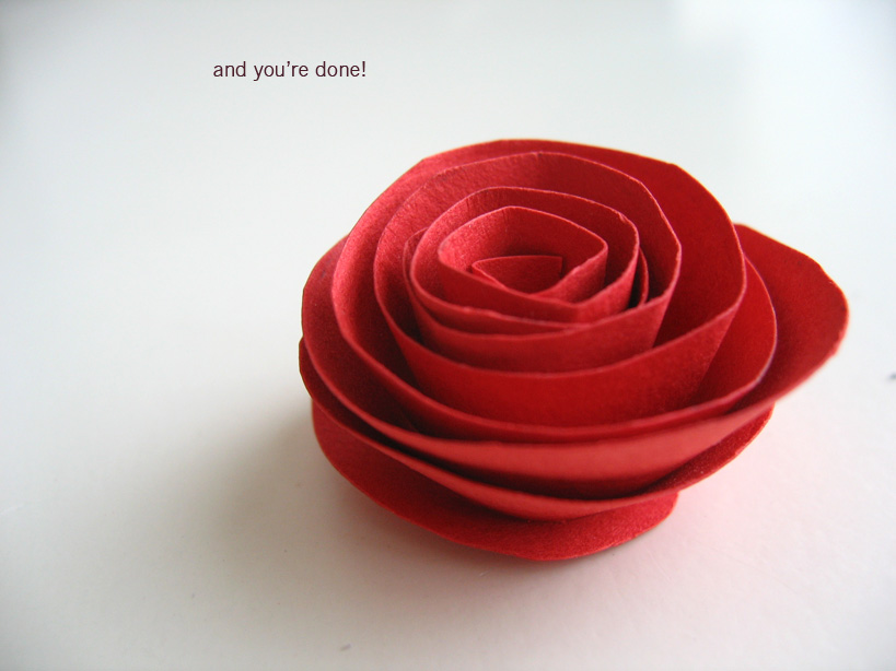 Making paper flowers simple paper rose flower tutorial simple paper rose flower tutorial mightylinksfo